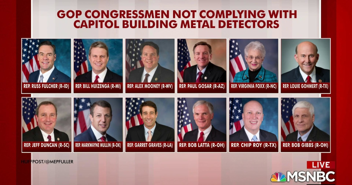 Some GOP House members won't comply with metal detectors