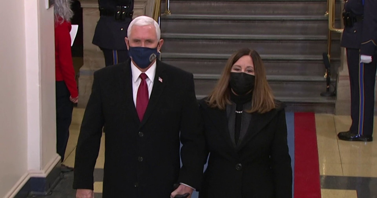 Pence arrives for Biden's inauguration as Trump lands in ...