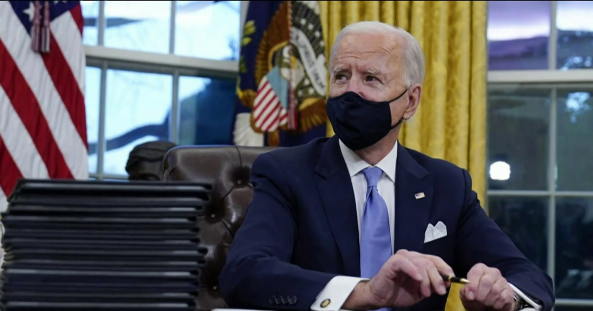 Biden takes immediate action on first 100 days agenda thumbnail