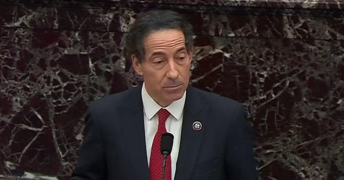 Rep. Raskin recounts his experiences during the Capitol riot at Senate impeachment trial