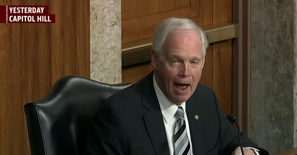 Sen. Johnson promotes 'firehose of falsehoods' at hearing