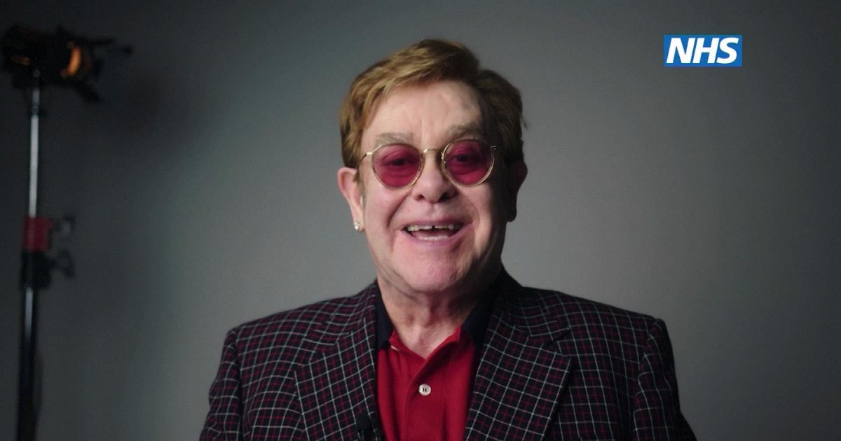 Watch: Elton John, Michael Caine appear in comic Covid vaccine ad