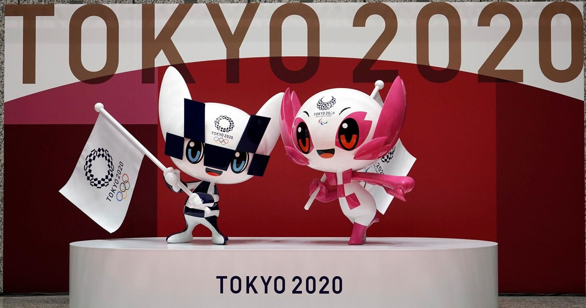 Mascot statues celebrate 100 days to Tokyo Olympics