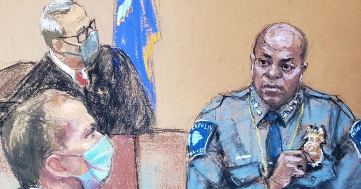 Minneapolis Police Chief testifies Derek Chauvin broke policy