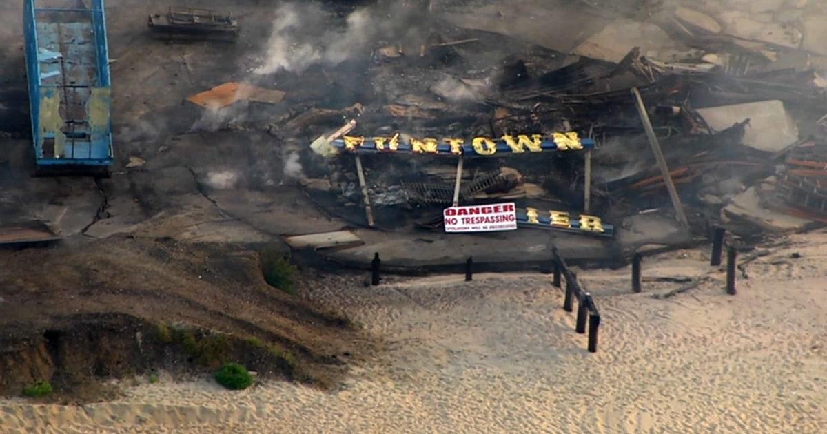 Aerial tour shows fire-damaged NJ boardwalk