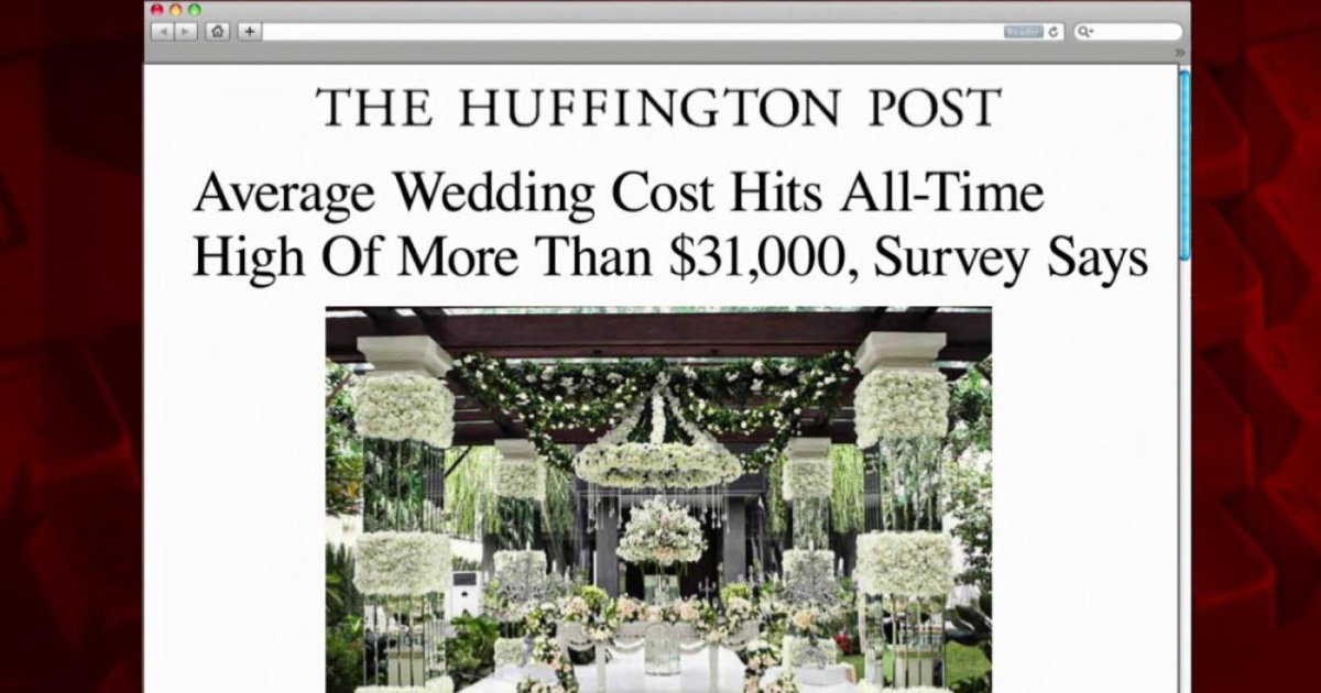 Average Wedding Costs 2015.Average Wedding Costs Hit Record High