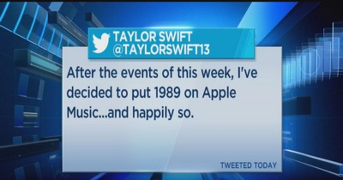 Taylor Swift to put '1989' album on Apple Music