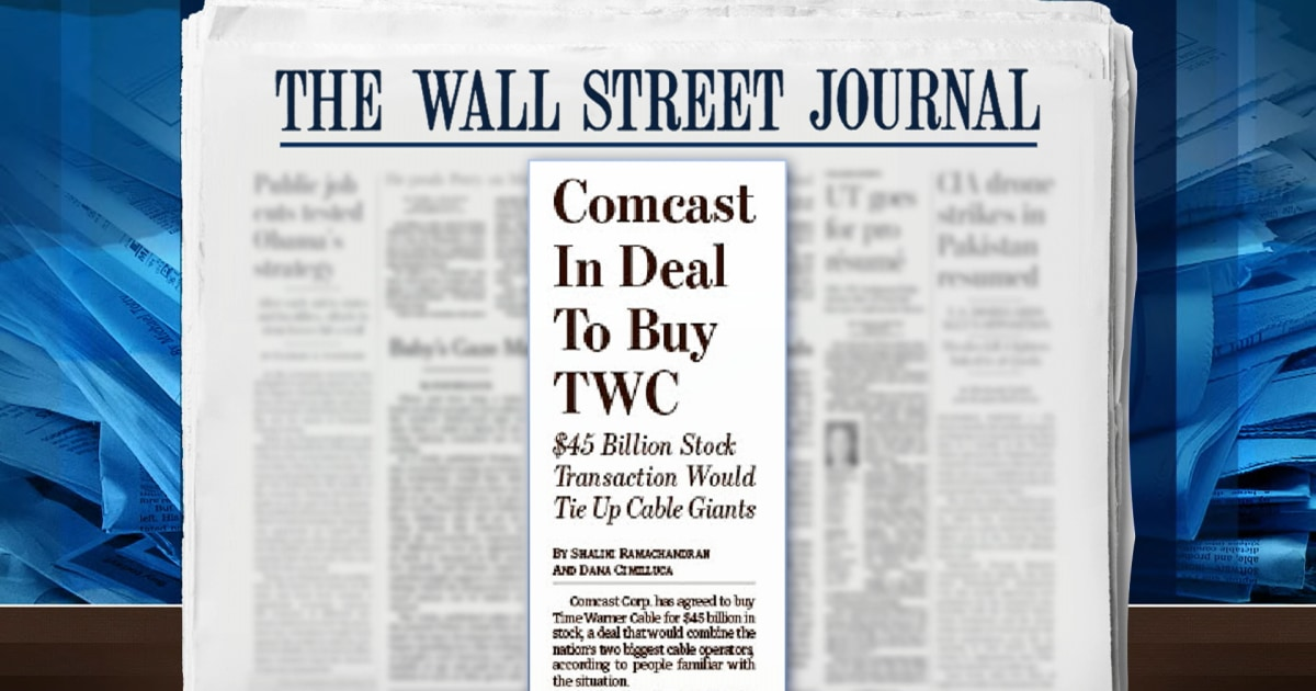 Comcast set to buy Time Warner Cable