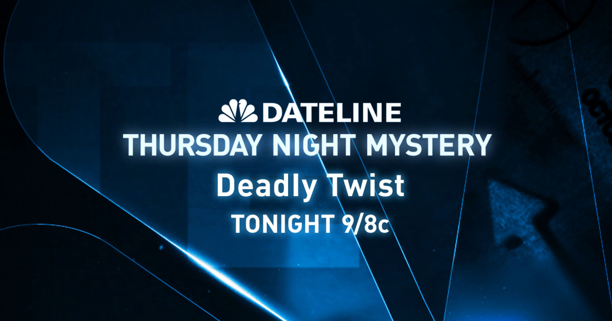PREVIEW Thursday Night Mystery: Deadly Twist
