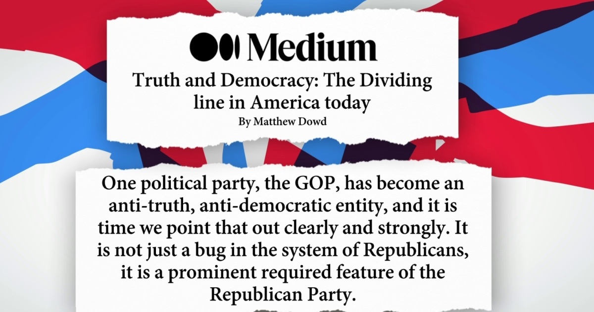 'Donald Trump is a reflection of what the Republican party became. He didn't cause the Republican party to become this.'