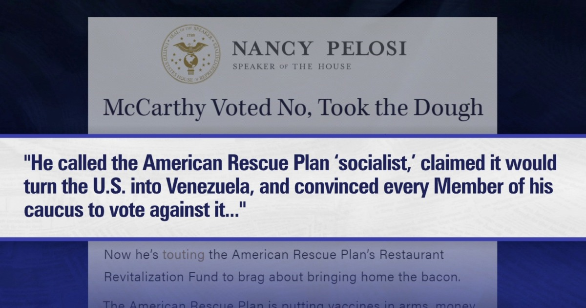 Republicans promote Covid relief they voted against