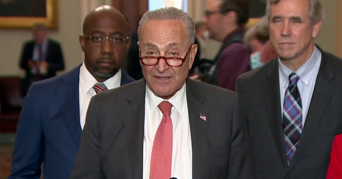 Schumer confirms Manchin will vote yes to proceed with debate on voting rights bill