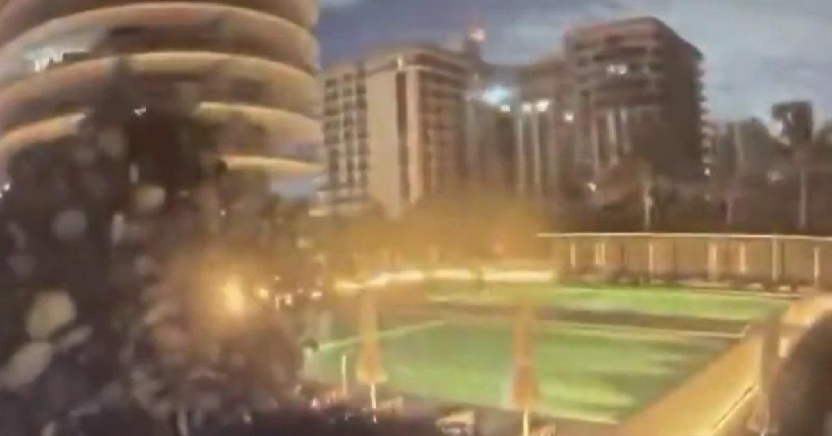 Watch: Florida building collapse caught on surveillance video