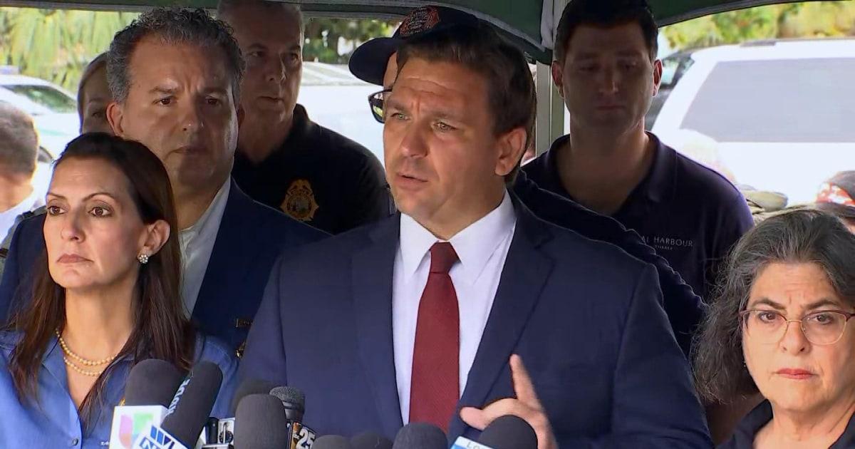 Florida Gov. DeSantis comments on building collapse near Miami