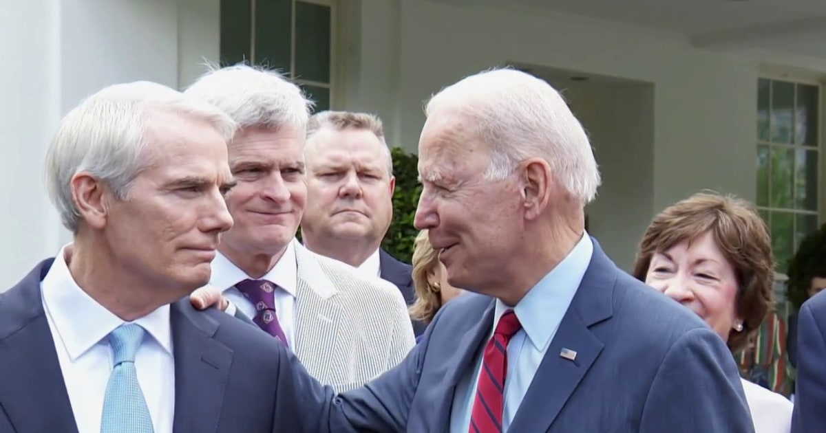 Chuck Todd: Senators 'discovered water' announcing infrastructure deal with Biden