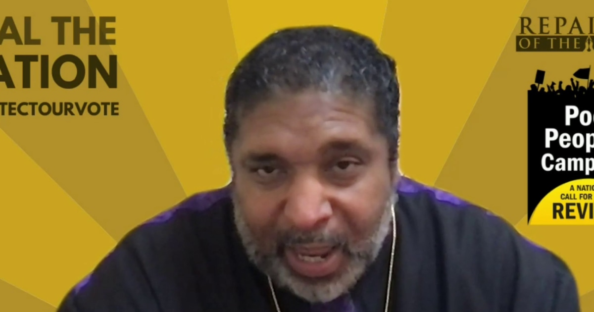 """Rev. Dr. William Barber: Manchin is """"hurting the very people that put him in office"""""""