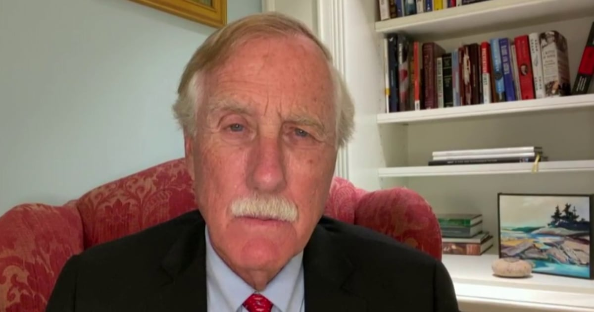 Sen. Angus King doesn't understand a political party whose strategy is that they're 'gonna keep a bunch of people from voting'