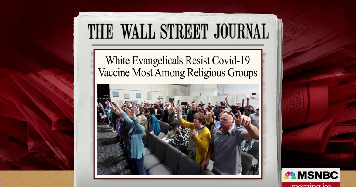 Evangelical Christians more resistant to vaccine than most other religious groups: WSJ