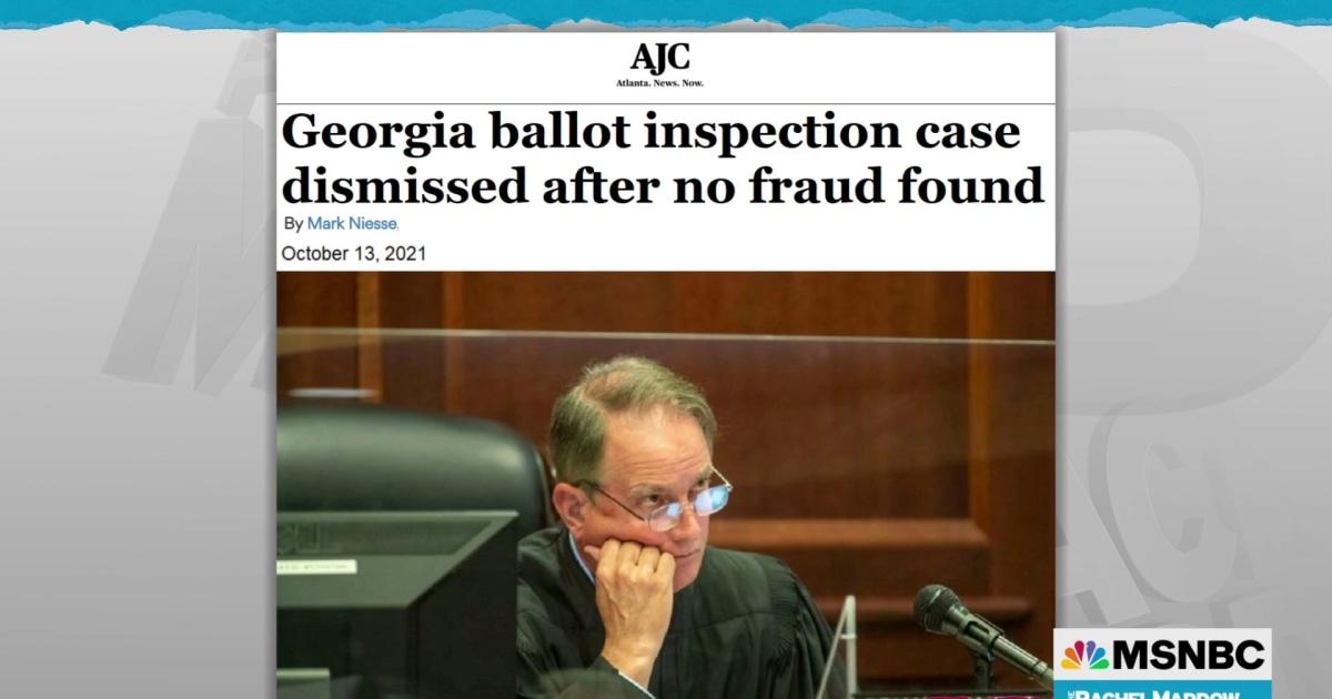 Judge stomps out Trump Big Lie case in Georgia; triggers Trump tantrum