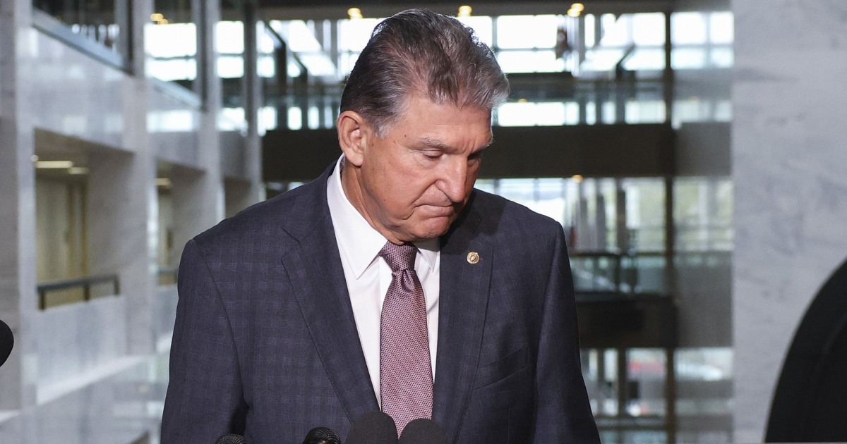 Manchin pulls plug on U.S. clean electricity ambitions in Biden budget bill: NYT