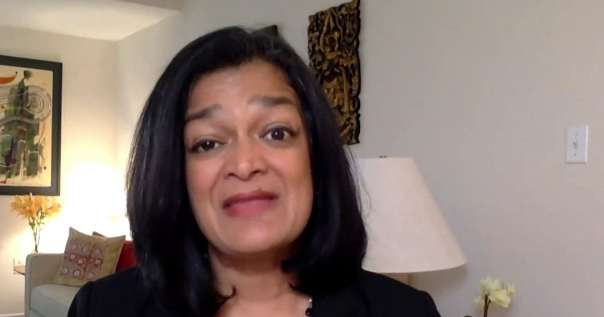 """Rep. Pramila Jayapal: """"This is not a progressives vs. moderates debate…This is about opportunity vs. decay"""""""
