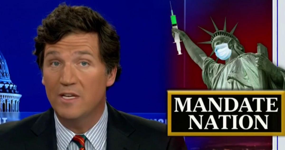 'He's a liar': Tucker Carlson makes false vax claim as Fox News colleague reveals viewer death wish