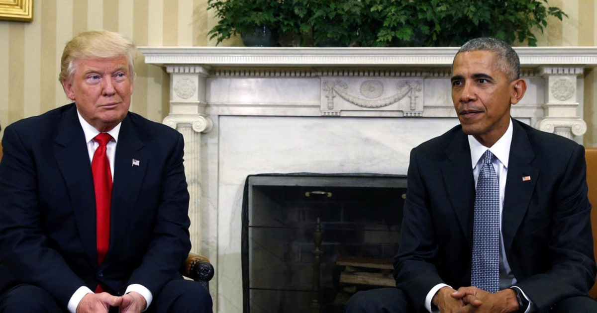 Following attack in Syria, Trump turns attention to Obama