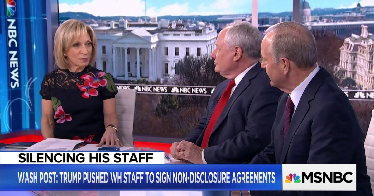 How Common Are Non Disclosure Agreements In The White House Nbc News