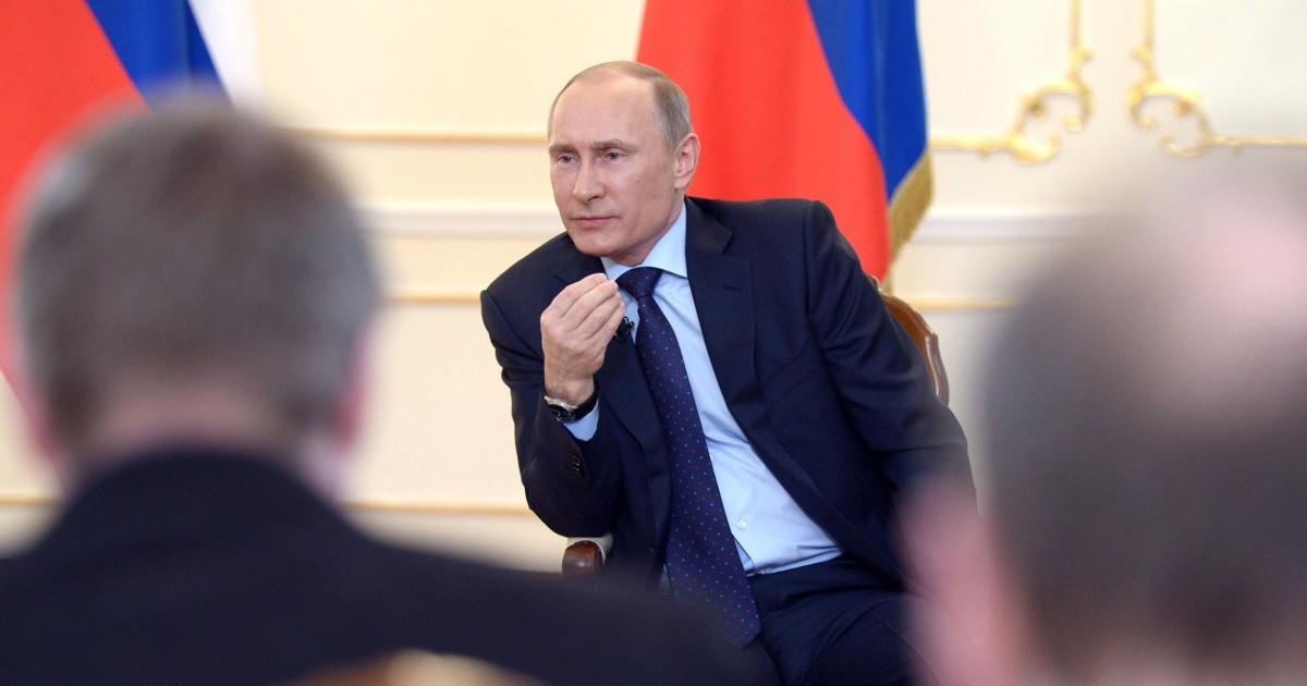 Putins Body Language Betrayed Anxiety, Aggression - NBC News