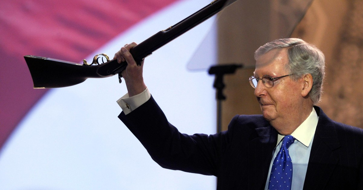 McConnell Brings a Gun as Prop to CPAC