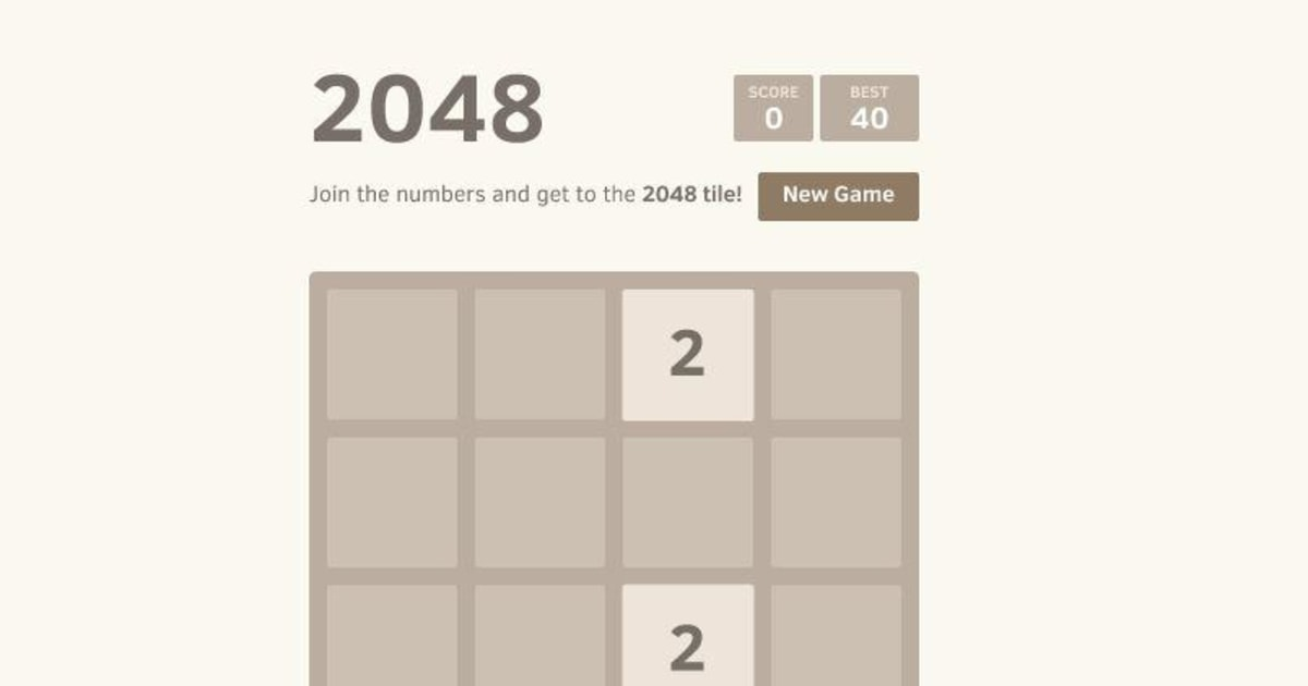 If Candy Crush and Sudoku Had a Baby, It Would Look Like 2048