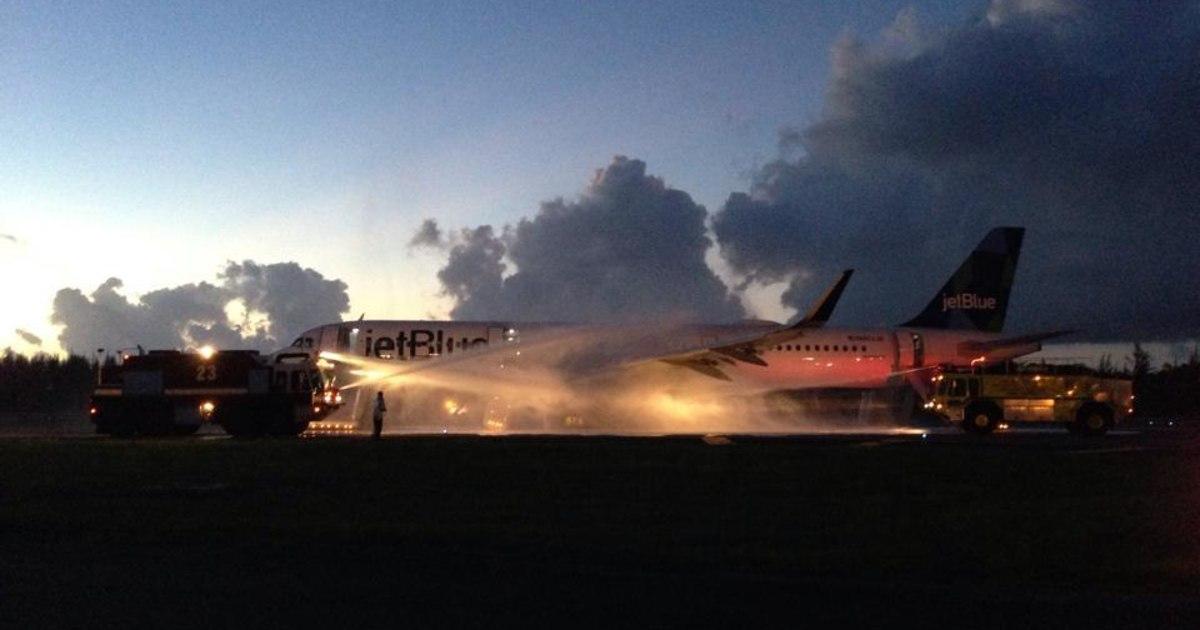 JetBlue Flight Evacuated After Engine Fire