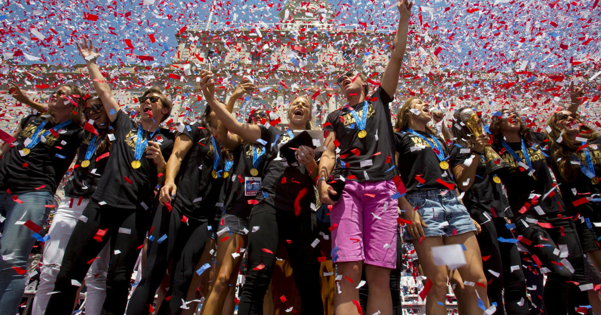 Canyon Of Heroines Team Usa Welcomed After World Cup Win