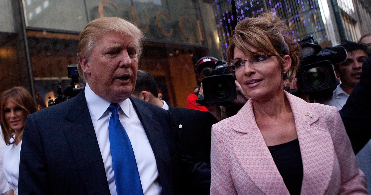 Donald Trump: I'd 'Love' to Pick Sarah Palin for Cabinet ...
