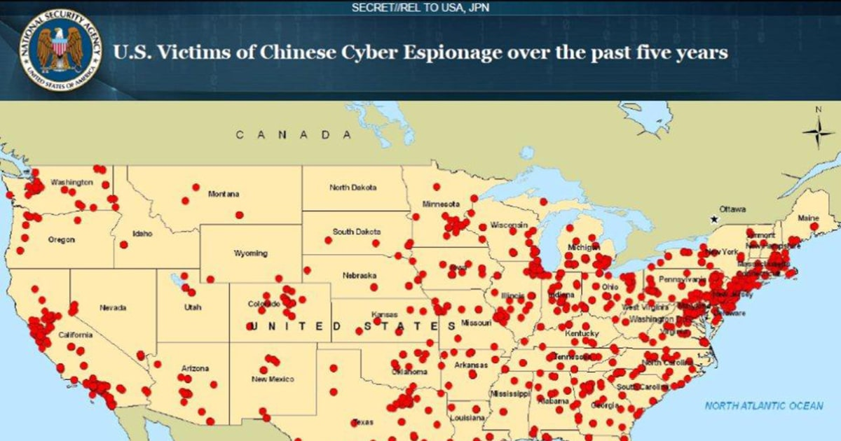 Exclusive: Secret NSA Map Shows China Cyber Attacks on U S  Targets