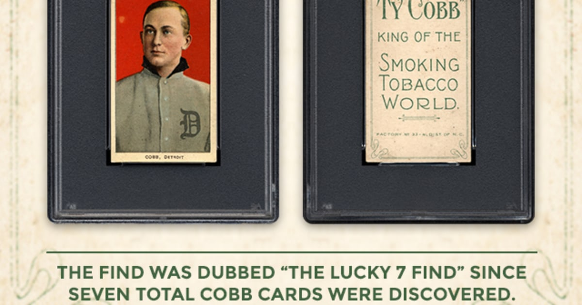 Seven Rare Ty Cobb Baseball Cards Found In Old Paper Bag