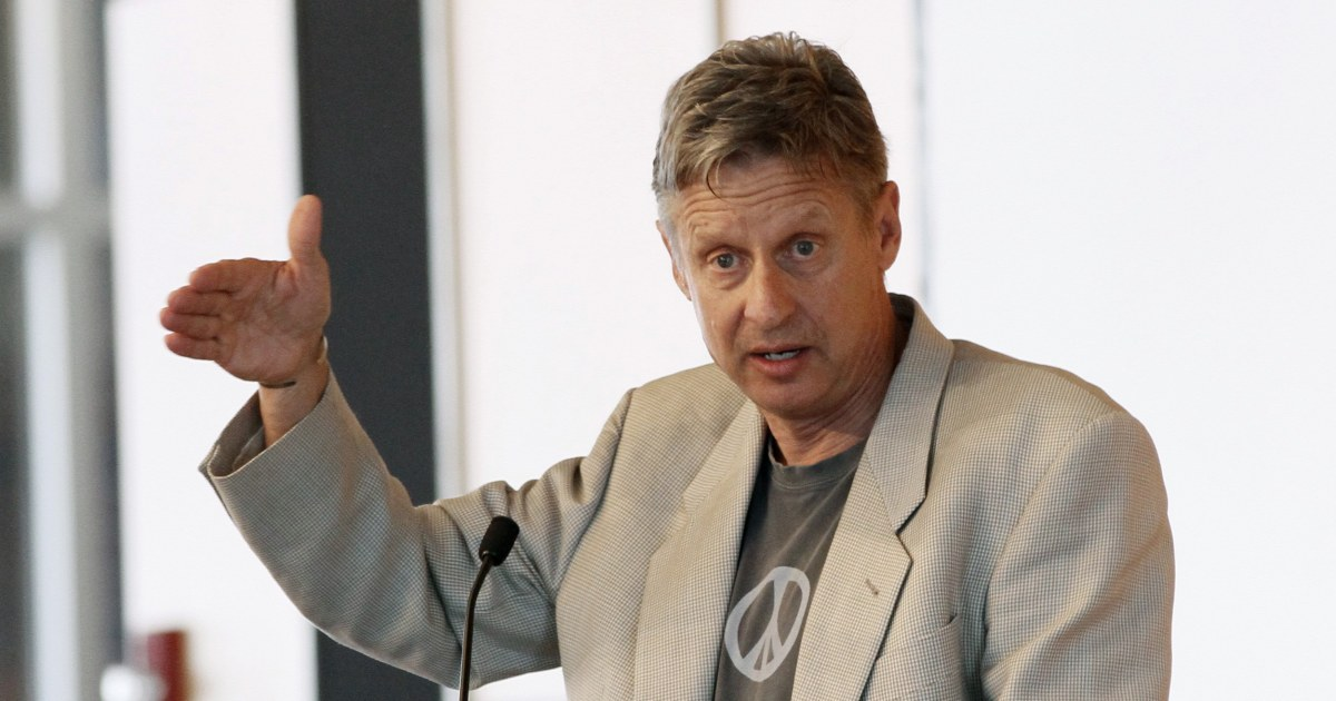 Libertarian Party Candidate Gary Johnson Chooses Former Mass. Gov. Bill Weld as His VP