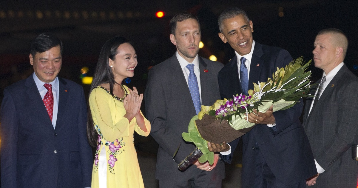 President Obama Arrives in Vietnam for Historic Asia Trip