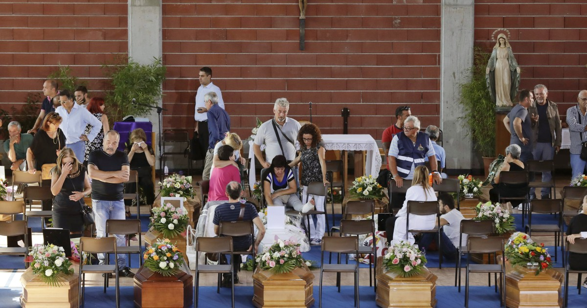 Italy Mourns Earthquake Victims in Mass Funeral
