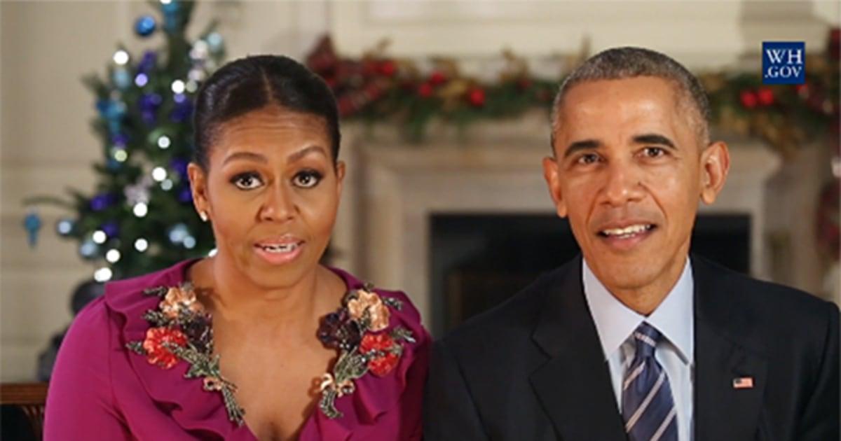 Merry Christmas Everybody': Obamas Share Final Holiday Address ...