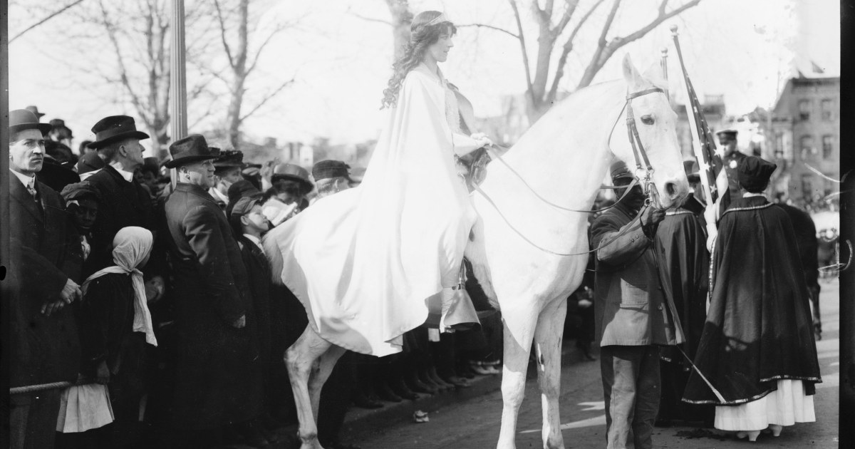 Women S Suffrage Marching For Rights 100 Years Ago