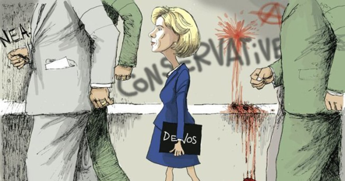 Political Cartoon Compares Betsy Devos To Civil Rights