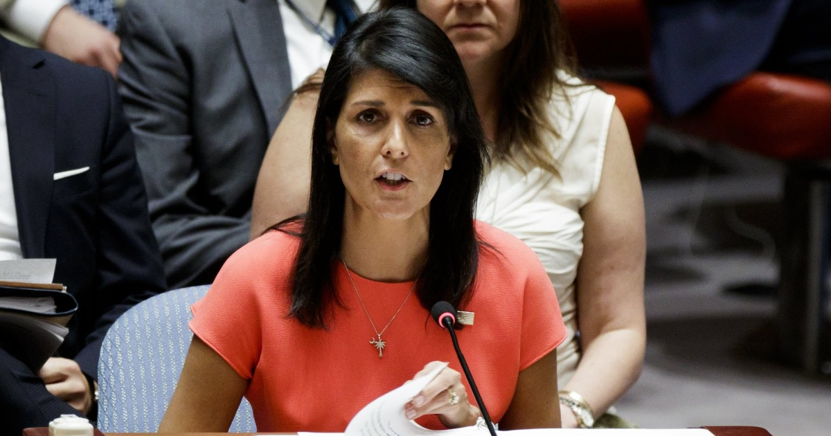 Ambassador Haley says Trump accusers have right to be heard
