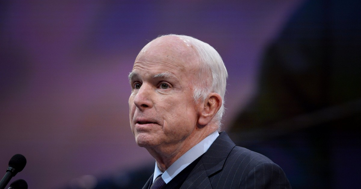 McCain defends America's role as world leader, condemns