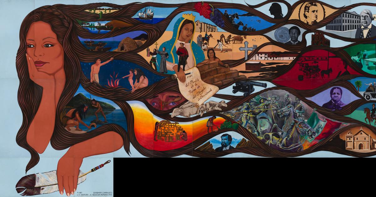 Renowned chicana muralist barbara carrasco 39 s landmark for 5 piece mural