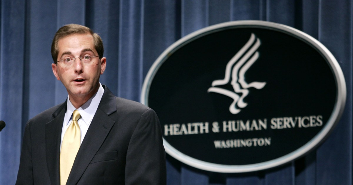 Trump taps former pharmaceutical executive to lead HHS