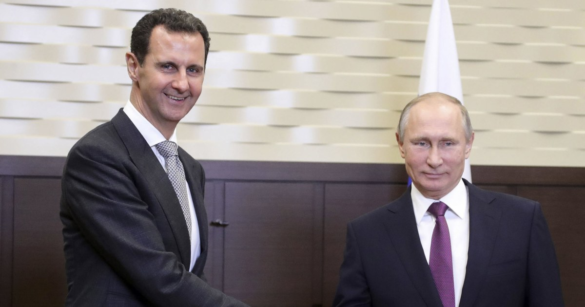 Putin salutes his generals for 'saving Syria' as Assad visits Russia