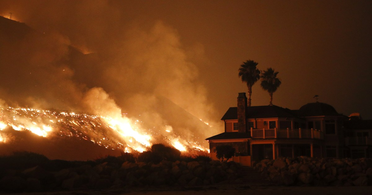 Thousands evacuated in Southern California as wildfires spread