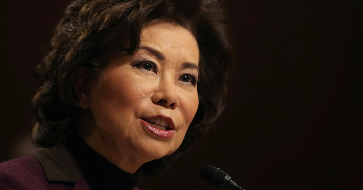Watchdog faulted Elaine Chao for misuse of office as transportation secretary – NBC News
