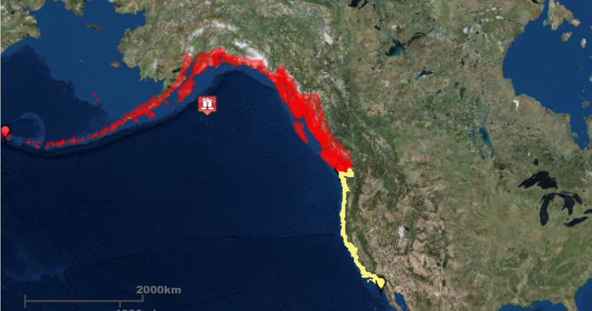 Tsunami warnings, watches issued after Gulf of Alaska earthquake